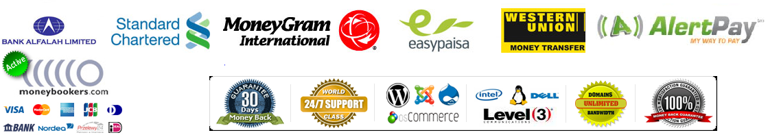 pakistan web hosting domain reseller payment option